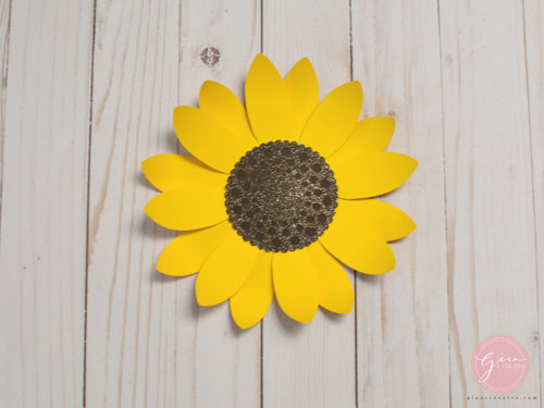 picture relating to Sunflower Template Printable titled Do it yourself Paper Sunflower with totally free SVG template Gina C. Makes