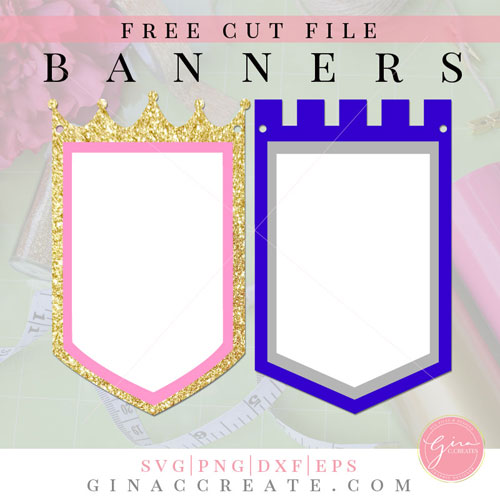 free party banner svg princess
