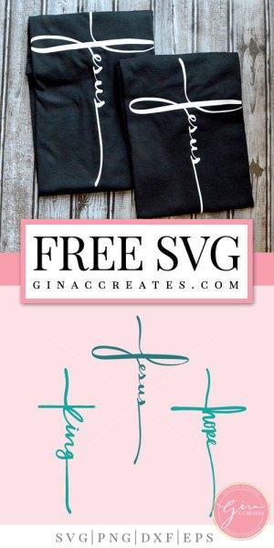 free svg Jesus cross, king cross, hope cross