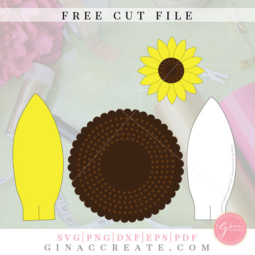 picture relating to Sunflower Petal Template Printable named Do it yourself Paper Sunflower with absolutely free SVG template Gina C. Makes