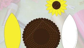 free paper flower template printable cut file gina c creates