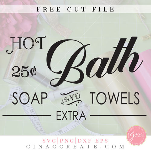 hot bath svg, vintage bathroom svg