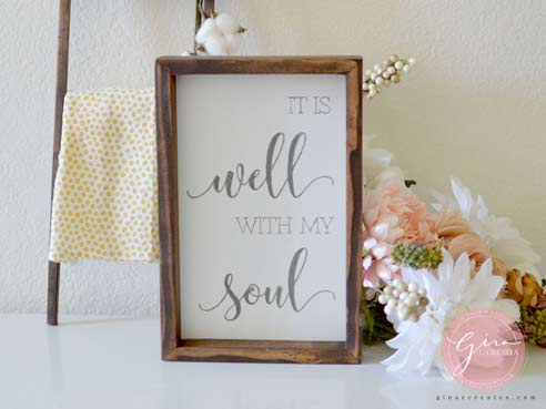 it is well with my soul painted sign