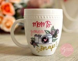 moms gonna snap svg on mug