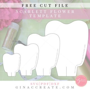 Download Free SVG & Printable Paper Flower Template - Gina C. Creates
