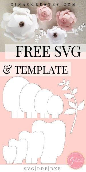 Free Svg Printable Paper Flower Template Gina C Creates
