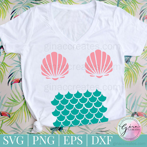 diy mermaid shirt free svg