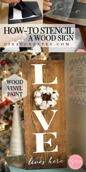 HOW-TO STENCIL A WOOD SIGN CRICUT PROJECT