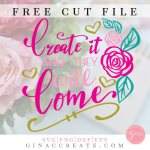 crafty girl svg, create it and they will come svg