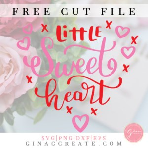free svg little sweet heart