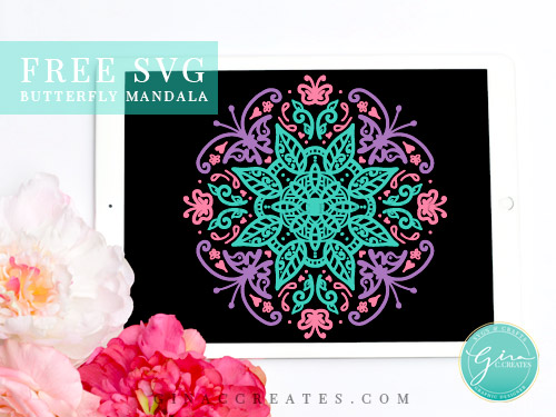free svg butterfly mandala, spring cricut projects