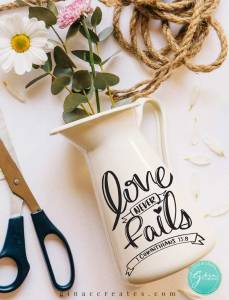 love never fails cut file, valentine's day svg