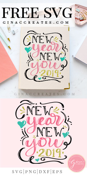 new year free svg cut file
