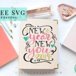 stationary hand letter design, free svg new year