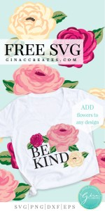 floral shirts, cricut projects for spring, flower free svg