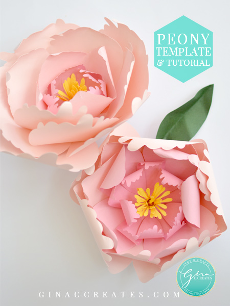 gina c. creates paper flower template