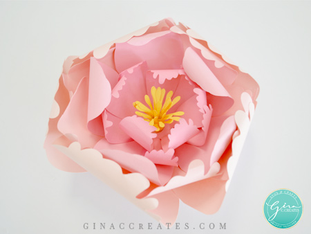 paper flower peony with gina c creates