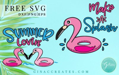 summer flamingo free svg, pool svg