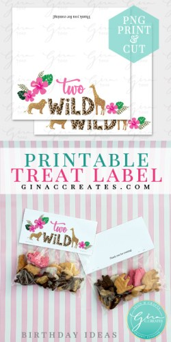 cookie treat bag free label, two wild candy label