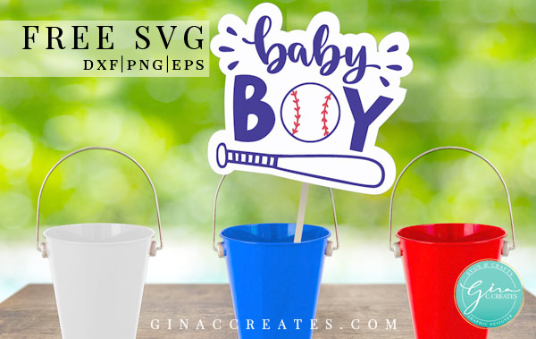 baby shower boy baseball free svg