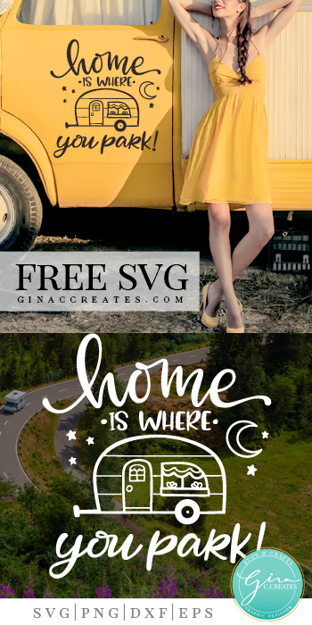 home is where you park free svg