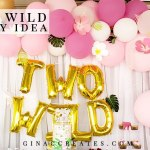 two wild birthday party decoration crafts