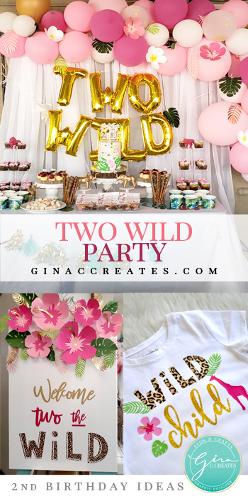 two wild 2nd birthday party idea for girls