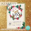 two wild pink and gold birthday digital invitation printable