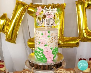 paper cake topper, two wild birthday cake