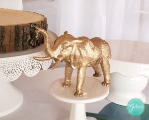 wild safari animal spray painted gold