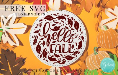 Free Svg Hello Fall Cricut craft file