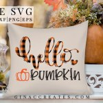 buffalo plaid fall pillow free svg hello pumpkin