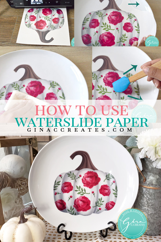How to use water slide decal paper