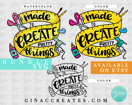 made to create pretty things svg, crafting svg, glue gun svg