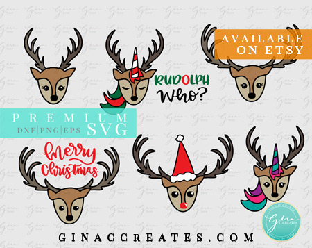 merry christmas svg, reindeer bundle svg
