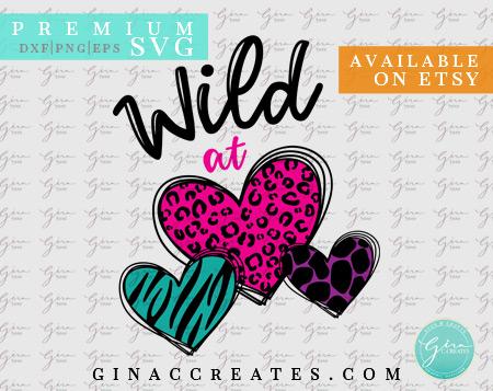 wild at heart valentine's daysvg