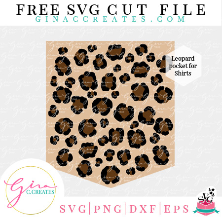 free svg leopard print pocket svg cricut cut file