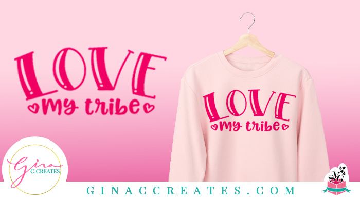 free svg love my tribe cricut file