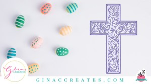 floral cross free svg cut file, easter svg