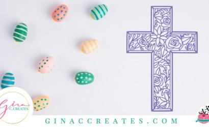 Floral Cross Spring Free SVG Cut File