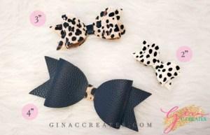 standard hair bow svg template for cricut, leopard cricut bow