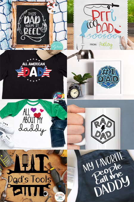 Free Father's day svg cut files