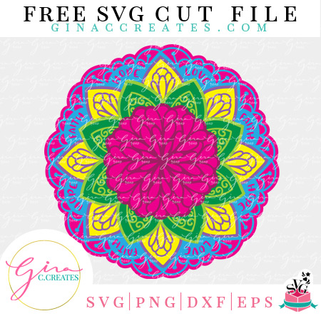 3D paper mandala free svg cut file