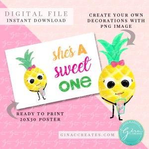 she's a sweet one banner 20x30 poster