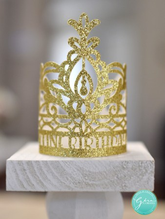 quarantine queen crown cup cake topper free svg