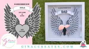 free svg 3D angel wings memorial shadow box