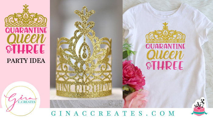 quarantine queen 3rd birthday idea crown free svg