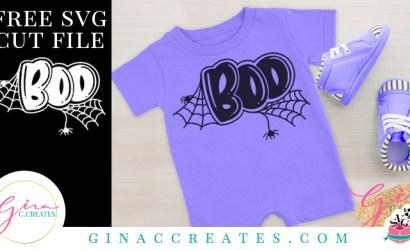 Halloween Boo Free SVG Cut File