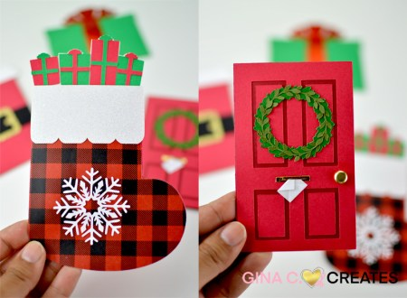 free christmas svg gift card holder
