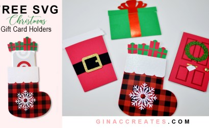 How to make Christmas Gift Card Holders includes Free SVG